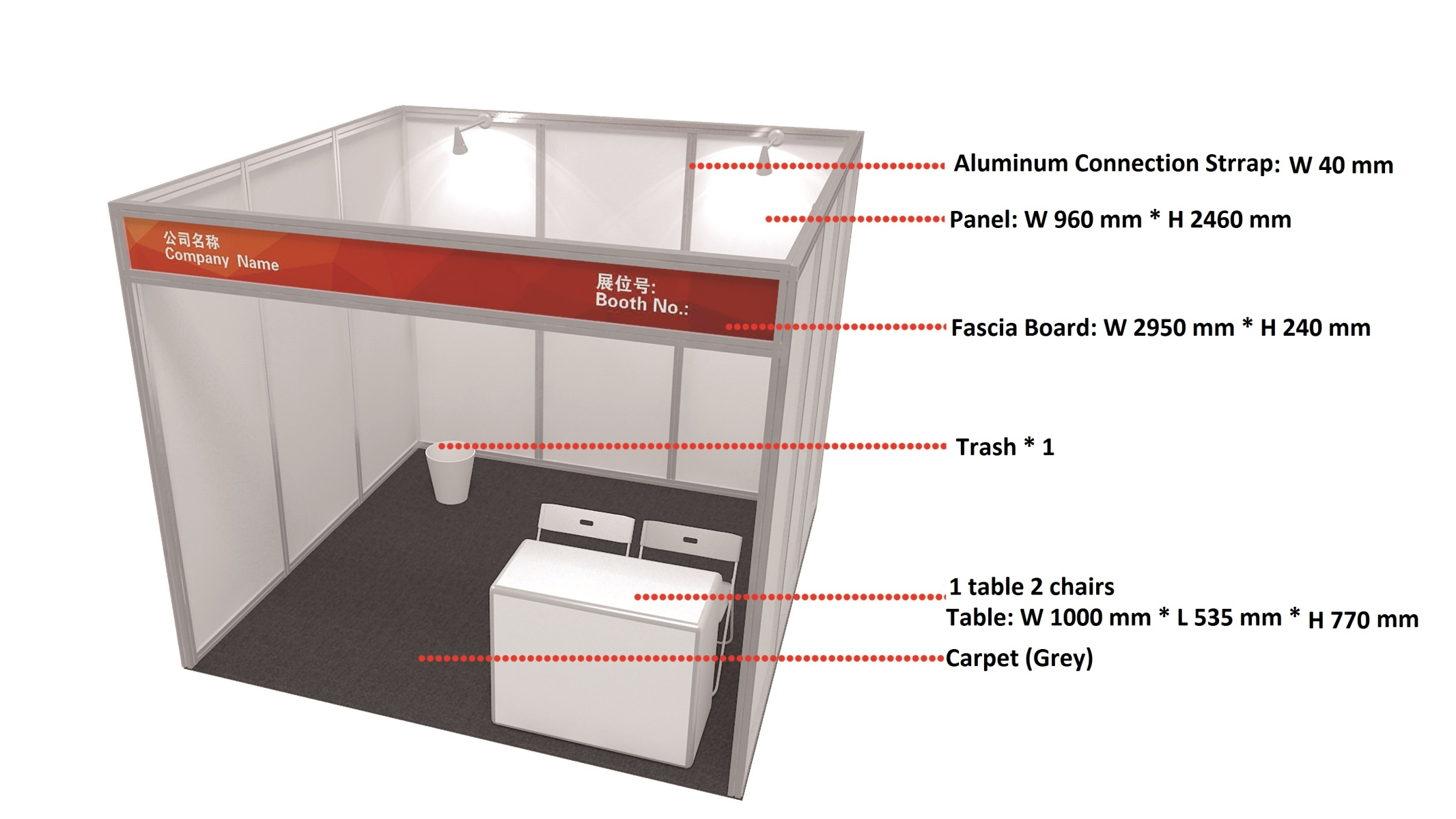 Exhibition Booth Standard Size : Booth info price china mining congress expo